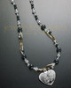 Maxwell Necklace with Heart and Black Beads