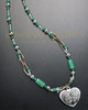 Molly Green Bead Necklace and Engraving Heart
