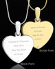Meadow Heart Photo Engraved Bead Necklace