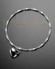 Luxury Natural Heart Sterling Cremation Bracelet