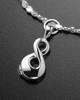 Luxury Perpetual Love Sterling Cremation Bracelet