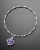 Luxury Violet Teardrop Sterling Cremation Bracelet