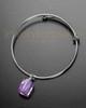 Sophisticate Lavender Crystal Cube Cremation Bracelet