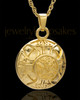 Cremains Pendant Gold Plated Irish Round Keepsake