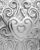 Memorial Pendant Sterling Silver Love Filigree Heart