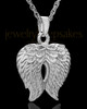 Urn Pendant 14k White Gold Angel Wings Keepsake