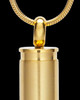 Gold Bulleted Stainless Cremation Pendant