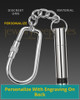 Stainless Courageous Cremation Key Chain