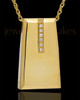 Cremation Locket Gold Plated Shimmer Rectangle