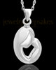 Urn Pendant Sterling Silver Caress Memorial