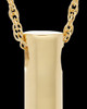 Memorial Necklace Gold Plated Channel Keepsake