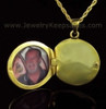 Remembrance Jewelry 14K Gold Etched Sphere Keepsake