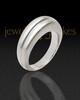 Ladies Silver Princess Ash Ring