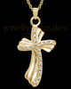 Pendant Keepsake Gold Plated Quartz Cross