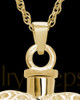 Necklace Urn Gold Plated Twinkle Heart