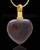 Memorial Locket Wood Pawed Heart - Eternity Collection