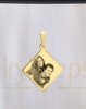 Diamond Gold Reflection Engraved Picture