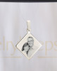 Diamond Picture Engraving Reflection Stainless Pendant