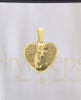 Heart Gold Pet Reflection Pictured Pendant
