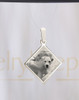 Diamond Stainless Pet Reflection Picture Jewelry