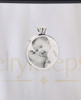 Photo Engraved Round Stainless Steel Cremation Reflection Pendant