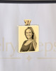 Photo Engraved Rectangle Stainless Gold Plated Reflection Ash Pendant