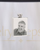 Photo Engraved Rectangle Stainless Steel Cremation Reflection Pendant