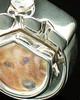 Cremation Pet Locket 14K White Gold Photo Paw Keepsake