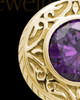 Keepsake Cremation Jewelry 14K Gold Plum