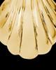 Ash Pendant 14K Gold Shells