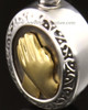 Cremation Charm 14k White Gold Belief Keepsake