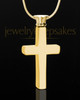 Cremation Keepsake Gold Plated Memorable Cross - Eternity Collection