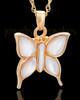 Cremation Charm Gold Vermeil Dewy Butterfly Keepsake