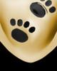 Pet Urn Jewelry 14K Gold Paws on Heart Keepsake