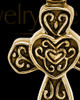 Cremation Pendant Gold Vermeil Cathedral Cross Keepsake