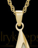 Cremation Charm 14K Gold Plated Sail Away Keepsake