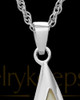 Cremation Charm 14K White Gold Sail Away Keepsake