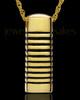 Gold Plated Grooved Cylinder Keepsake