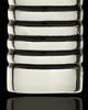 Cremation Urn Pendant 14K White Gold Grooved Cylinder Keepsake