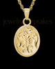 Cremation Ash Jewelry 14K Gold Plated Majesty Round Keepsake