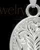 Cremation Ash Jewelry 14k White Gold Majesty Round Keepsake