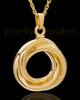 Urn Pendant 14K Gold Ringed Eternity