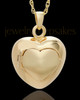 Cremation Urn Jewelry 14K Gold Plated Purity Heart Keepsake