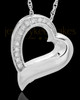 Memorial Pendant Sterling Silver Passion Heart