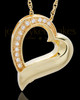 Memorial Pendant Gold Vermeil Passion Heart