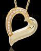 Memorial Pendant Gold Vermeil Passion Heart