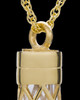 Memorial Necklace Gold Vermeil Adoration