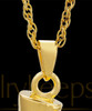 Cremation Necklace Spar - Gold Plated - Engravable