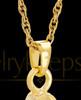 Remembrance Jewelry Gold Plated Ice Hockey Keepsake