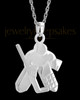 14k White Gold Remembrance Jewelry Ice Hockey Keepsake